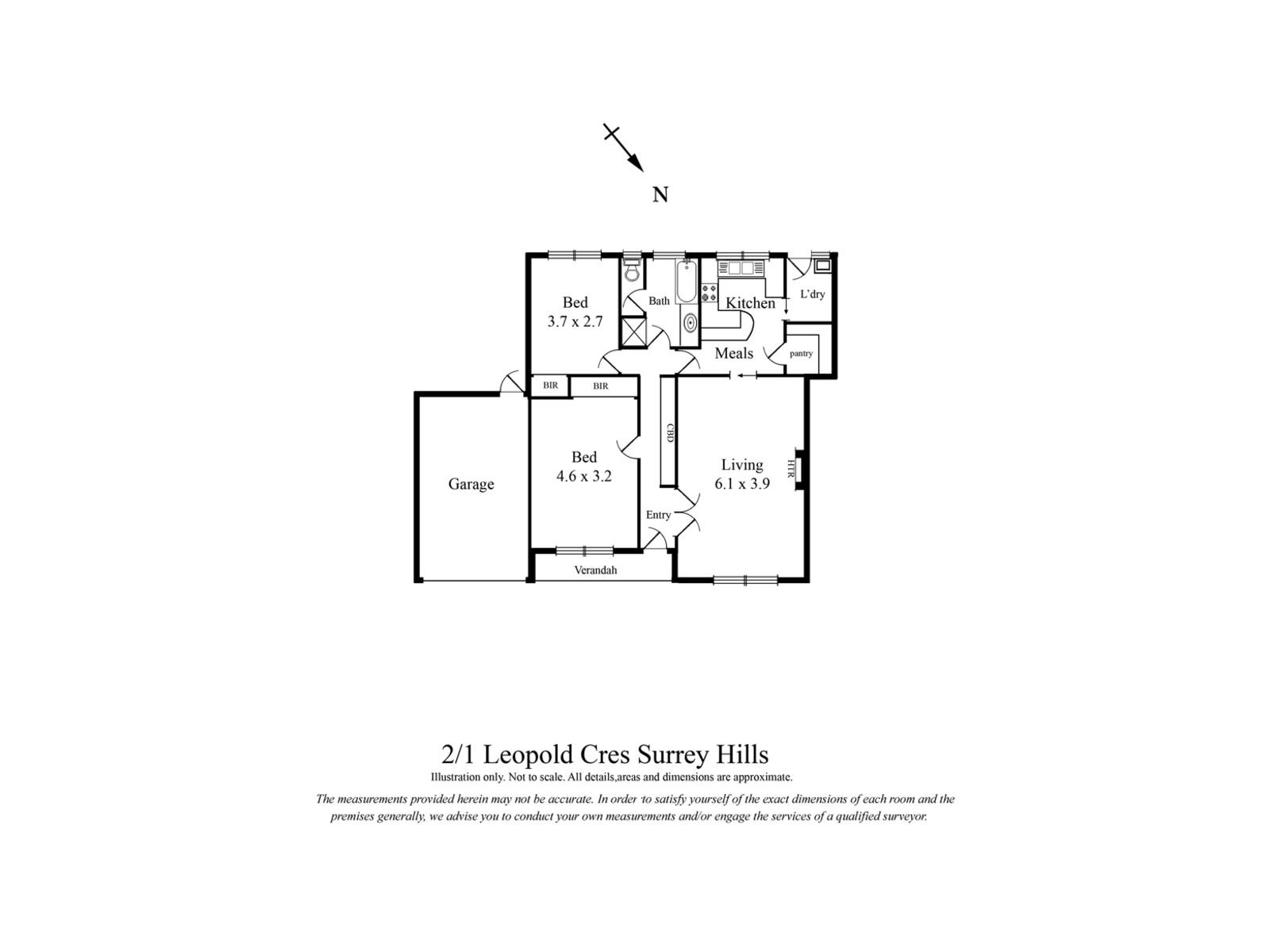 2 / 1 Leopold Crescent, Surrey Hills