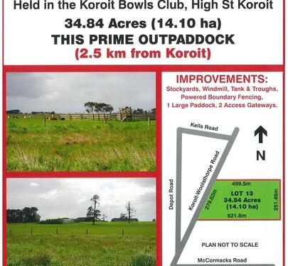 Lot 13, Koroit - Woolsthorpe Road, Koroit
