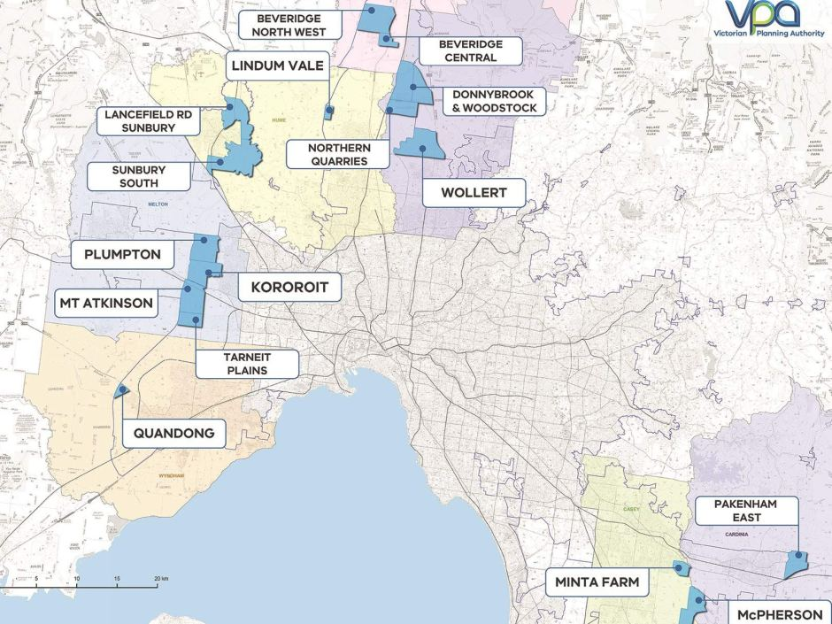 "In an effort to tackle the problem of housing affordability ""head on"", the Victorian Government is rezoning 100,000 housing blocks and creating 17 new suburbs in Melbourne's key growth zones."