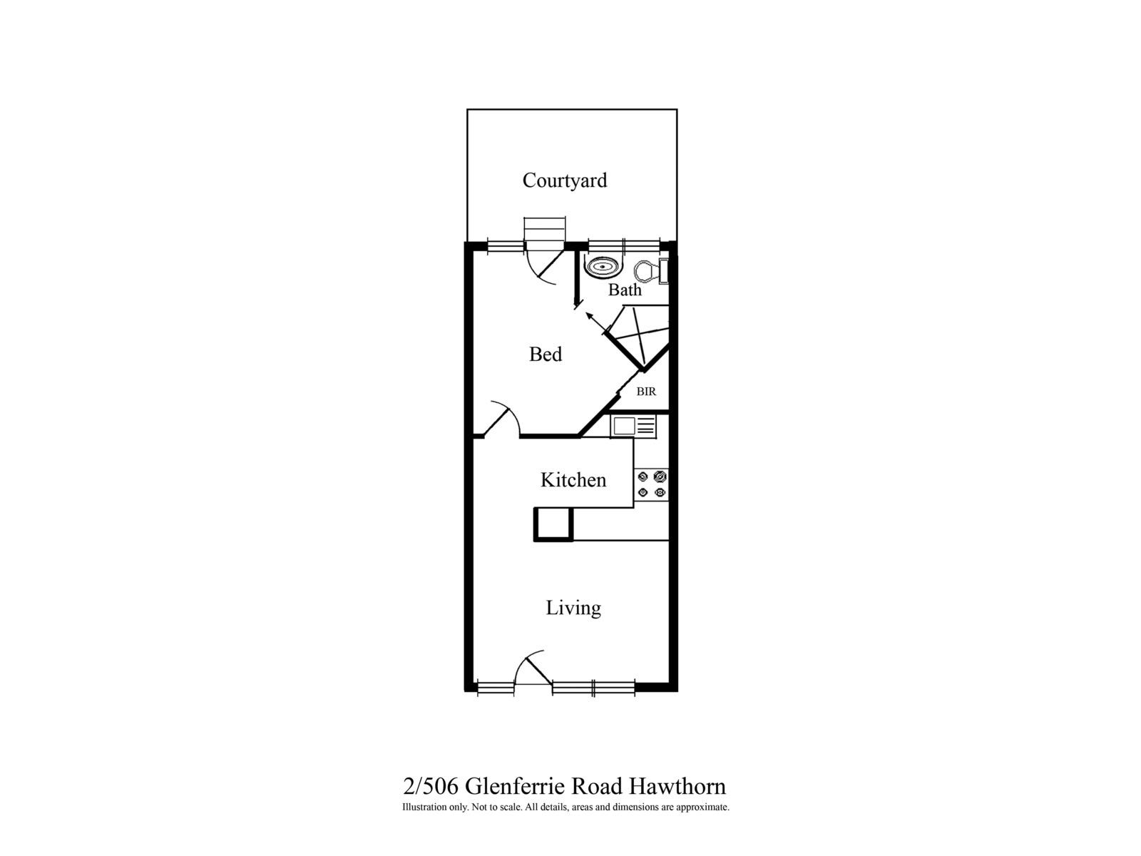 2 / 506 Glenferrie Road, Hawthorn