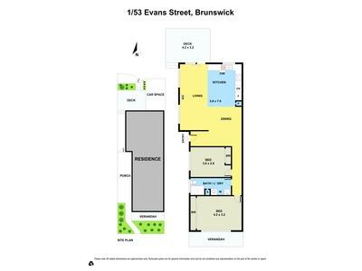 1 / 53 Evans Street, Brunswick
