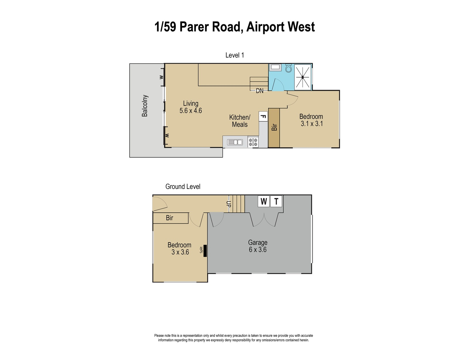 1 / 59 Parer Road, Airport West