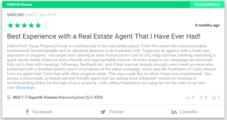 Best Experience with a Real Estate Agent That I Have Ever Had!